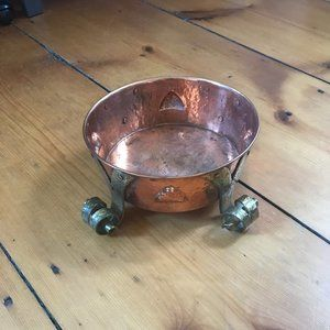 Copper and Brass Footed Planter